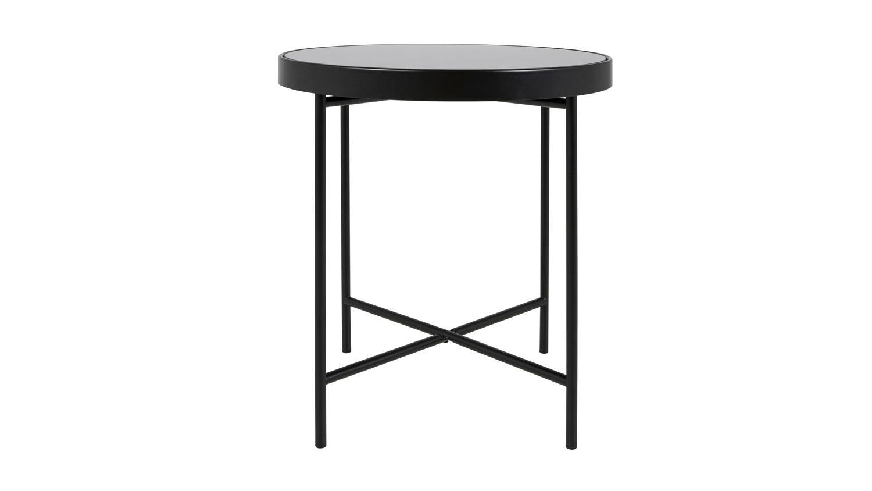 couchtisch molly 28 runder tisch schwarz lackiert metallgestell. Black Bedroom Furniture Sets. Home Design Ideas