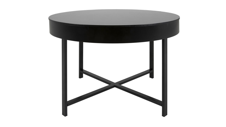 couchtisch molly 32 tisch rund mit ablagefach schwarz lackiert. Black Bedroom Furniture Sets. Home Design Ideas