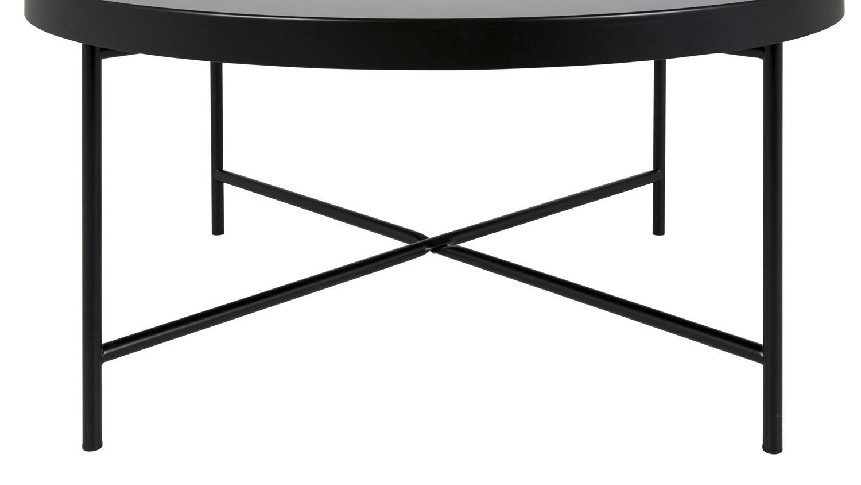 Couchtisch MOLLY 27 Tisch rund schwarz lackiert mit Glas  -> Couchtisch Glas Lackiert