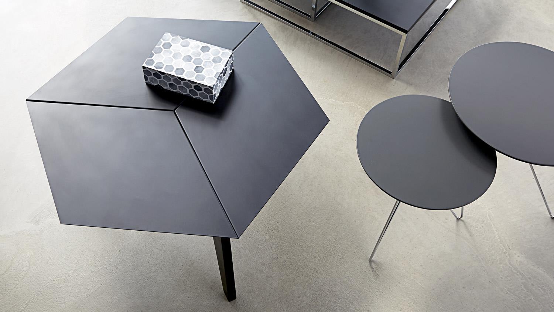 Couchtisch MOLLY 33 Tisch 6eckig schwarz matt lackiert
