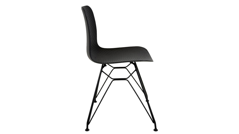 stuhl parisi k chenstuhl sitz kunststoff gestell metall. Black Bedroom Furniture Sets. Home Design Ideas