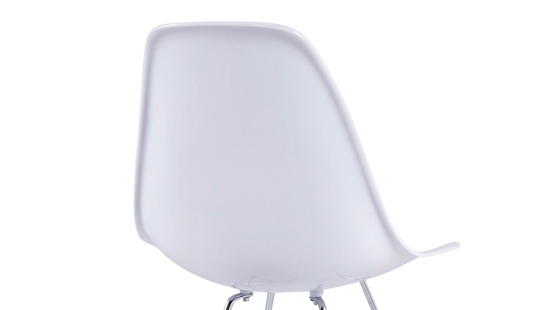 S H 4er Set Stuhl Crystal Kristall Metall weiß