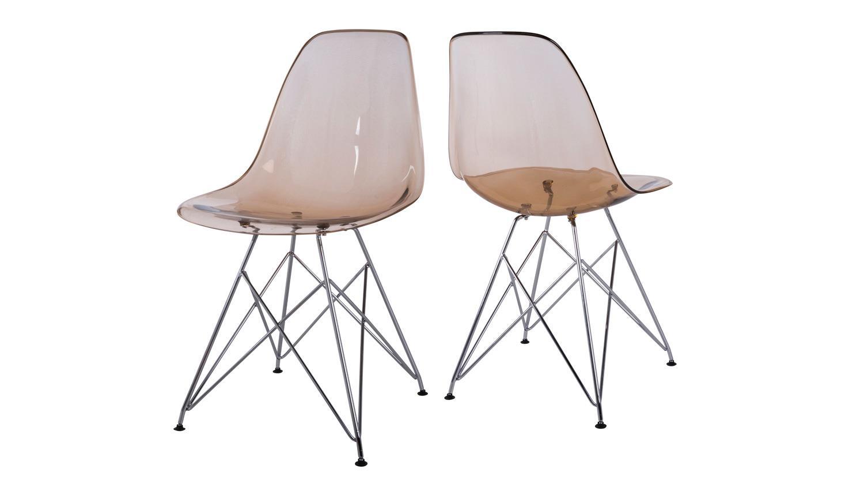 Stuhl kristall 4er set esszimmerstuhl metall verchromt for Esszimmerstuhl metall