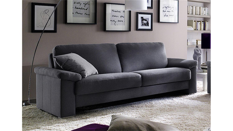 Sofa mobile 3 sitzer bezug stoff dunkelgrau 222 cm for Couch dunkelgrau