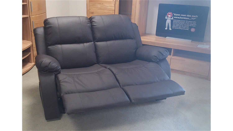 sofa 2 sitzer lakos polsterm bel braun mit funktion. Black Bedroom Furniture Sets. Home Design Ideas