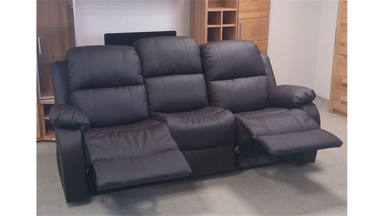 sofa lakos 3 sitzer polsterm bel in braun mit funktion. Black Bedroom Furniture Sets. Home Design Ideas