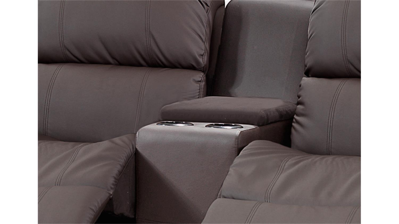 sofa mit tea table lakos 2 sitzer braun mit funktion. Black Bedroom Furniture Sets. Home Design Ideas