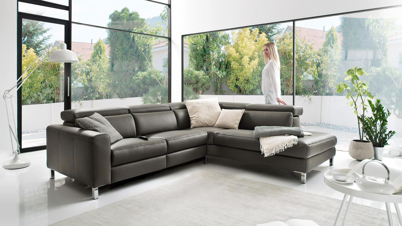 ecksofa lazy l sofa elephant grau inkl. Black Bedroom Furniture Sets. Home Design Ideas