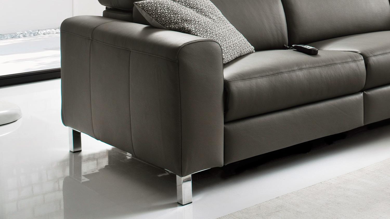 ecksofa lazy l sofa elephant grau inkl kopfteilverstellung 286x240 cm. Black Bedroom Furniture Sets. Home Design Ideas