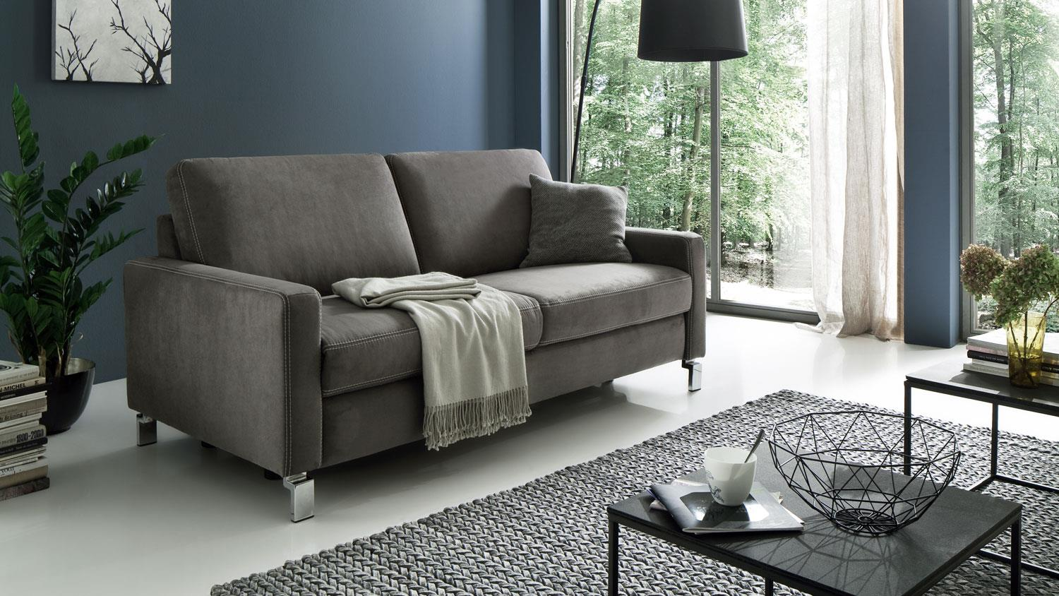 Sofa COAST PLUS 3 Sitzer Couch in Stoff anthrazit mit