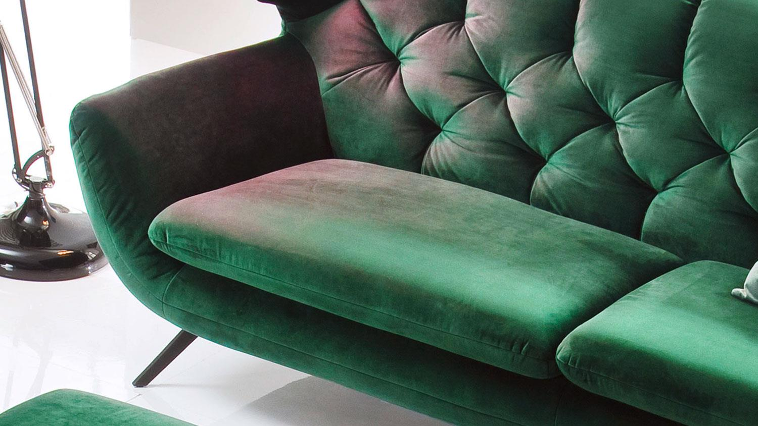 Sofa SIXTY 2,5-Sitzer Couch Polstersofa Stoff Velour ...