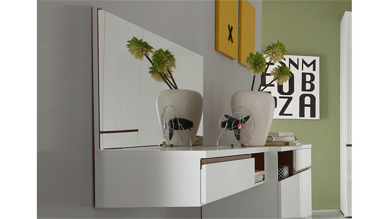 schminktisch neve wei hochglanz tiefzieh cognac spiegel. Black Bedroom Furniture Sets. Home Design Ideas