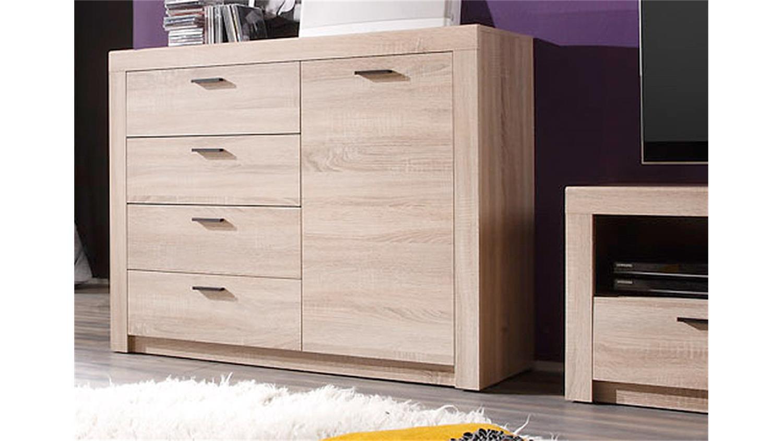wohnwand 3 nemezis sonoma eiche inkl beleuchtung. Black Bedroom Furniture Sets. Home Design Ideas