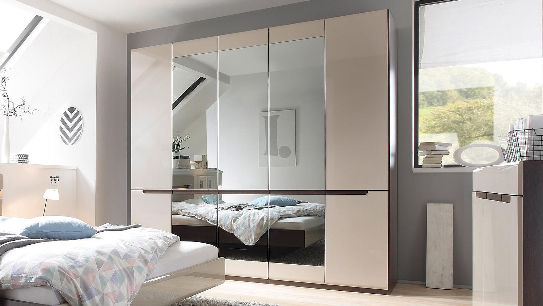 kleiderschrank hektor sonoma sand grau hochglanz 225 cm. Black Bedroom Furniture Sets. Home Design Ideas
