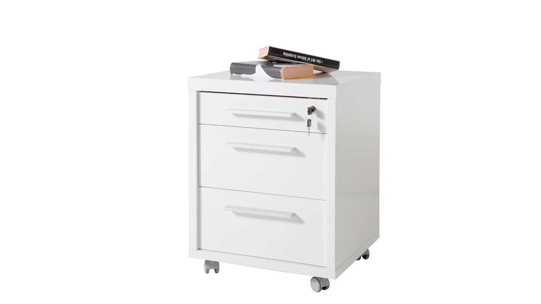rollcontainer kronos in wei hochglanz lack f r schreibtisch. Black Bedroom Furniture Sets. Home Design Ideas
