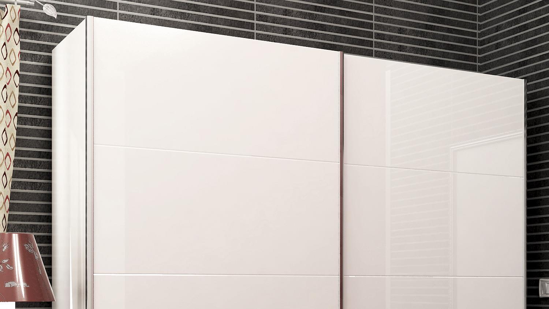 schwebet renschrank nicole in wei hochglanz 240 cm. Black Bedroom Furniture Sets. Home Design Ideas