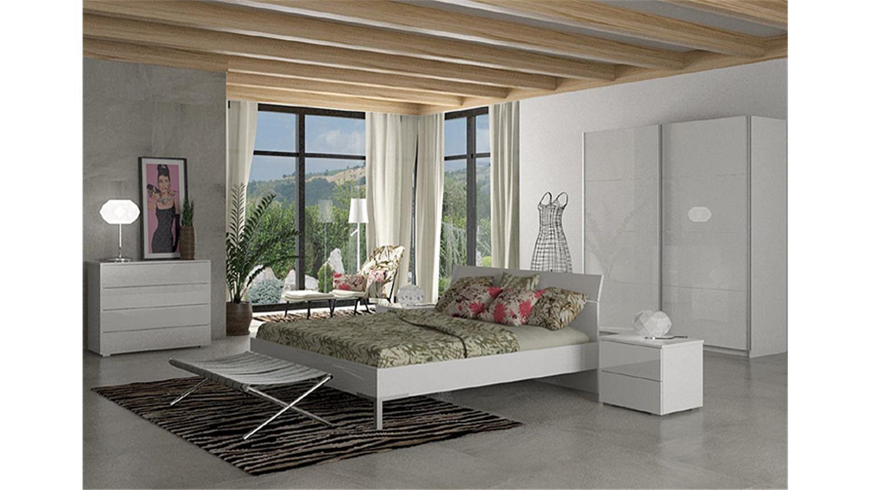 nachtkommode privilegio nachtschrank in wei hochglanz. Black Bedroom Furniture Sets. Home Design Ideas