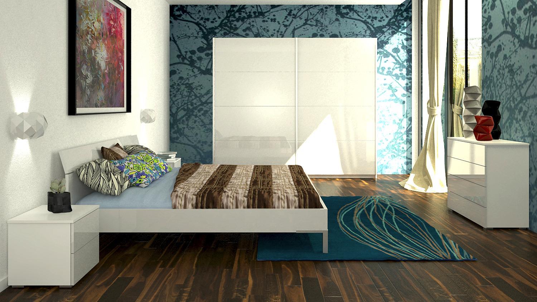 bett privilegio 140x200cm in wei hochglanz lackiert. Black Bedroom Furniture Sets. Home Design Ideas