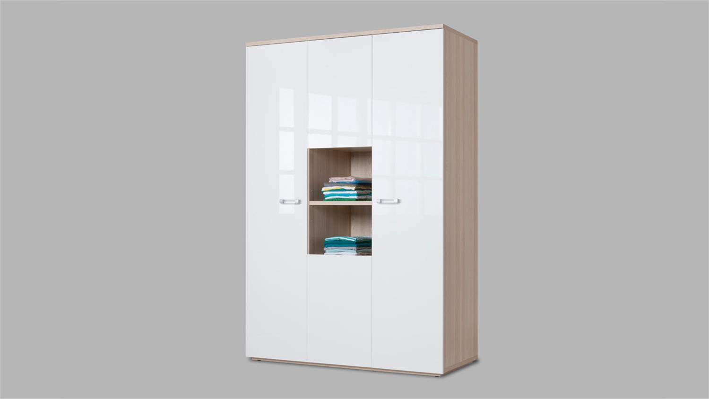 jugendzimmer 1 calisma wei hochglanz lackiert esche. Black Bedroom Furniture Sets. Home Design Ideas
