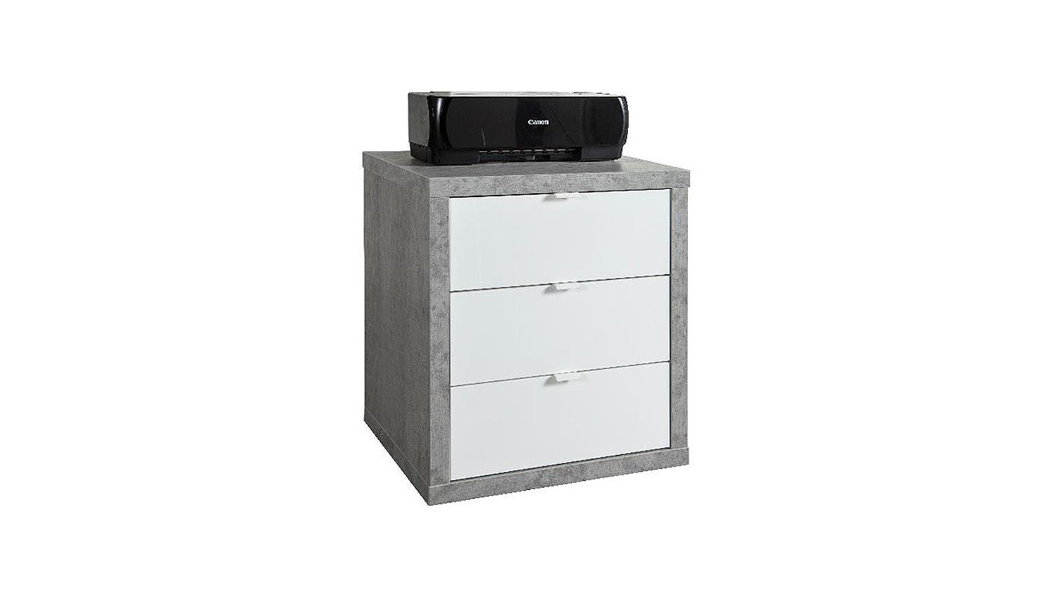 kommode pratico b ro container in beton wei hochglanz lack. Black Bedroom Furniture Sets. Home Design Ideas