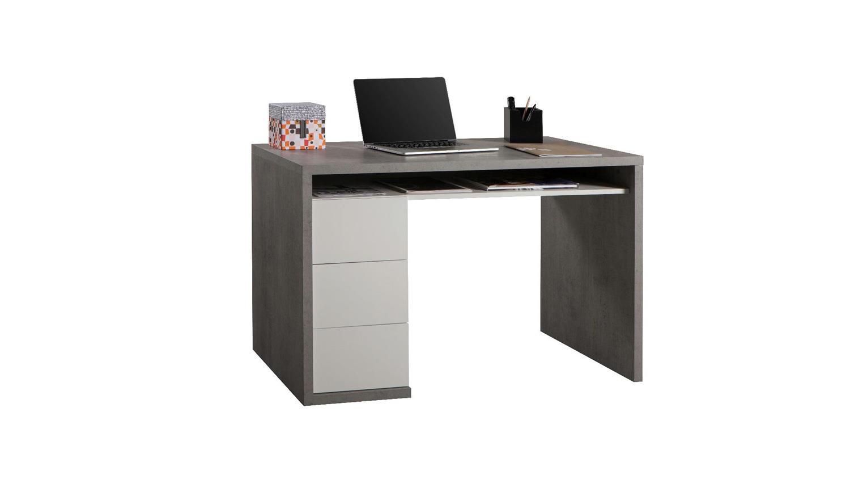 arbeitszimmer schreibtisch moneta beton wei hochglanz lackiert. Black Bedroom Furniture Sets. Home Design Ideas