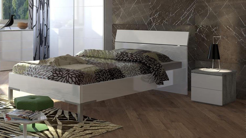 nachtkommode privilegio beton wei hochglanz lackiert. Black Bedroom Furniture Sets. Home Design Ideas
