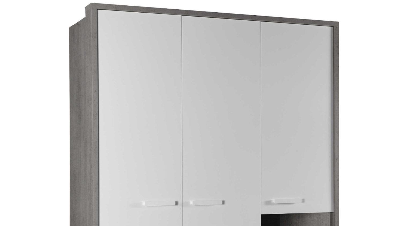 kleiderschrank mipiace hochglanz wei beton look. Black Bedroom Furniture Sets. Home Design Ideas