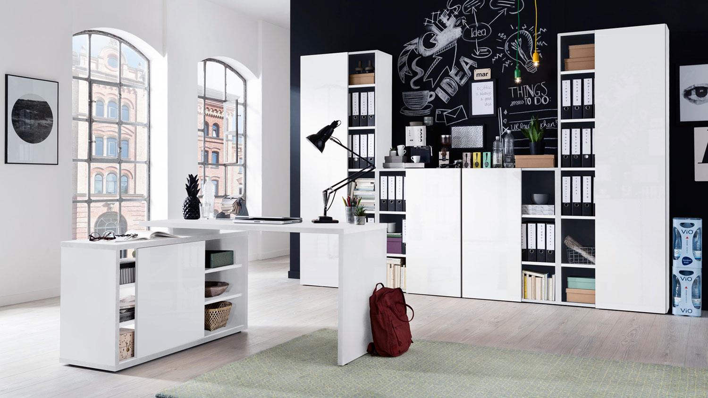 Eckschreibtisch Weiß Hochglanz : eckschreibtisch core in wei hochglanz melamin 150x120 cm ~ Watch28wear.com Haus und Dekorationen