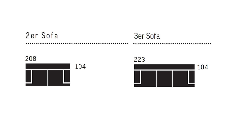 Sofa Garnitur Carrier Polstermobel Mit Relaxfunktion In Grau