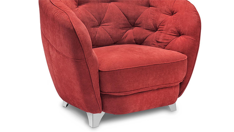 sessel retro einzelsessel in rot im vintagelook 95x88 cm. Black Bedroom Furniture Sets. Home Design Ideas