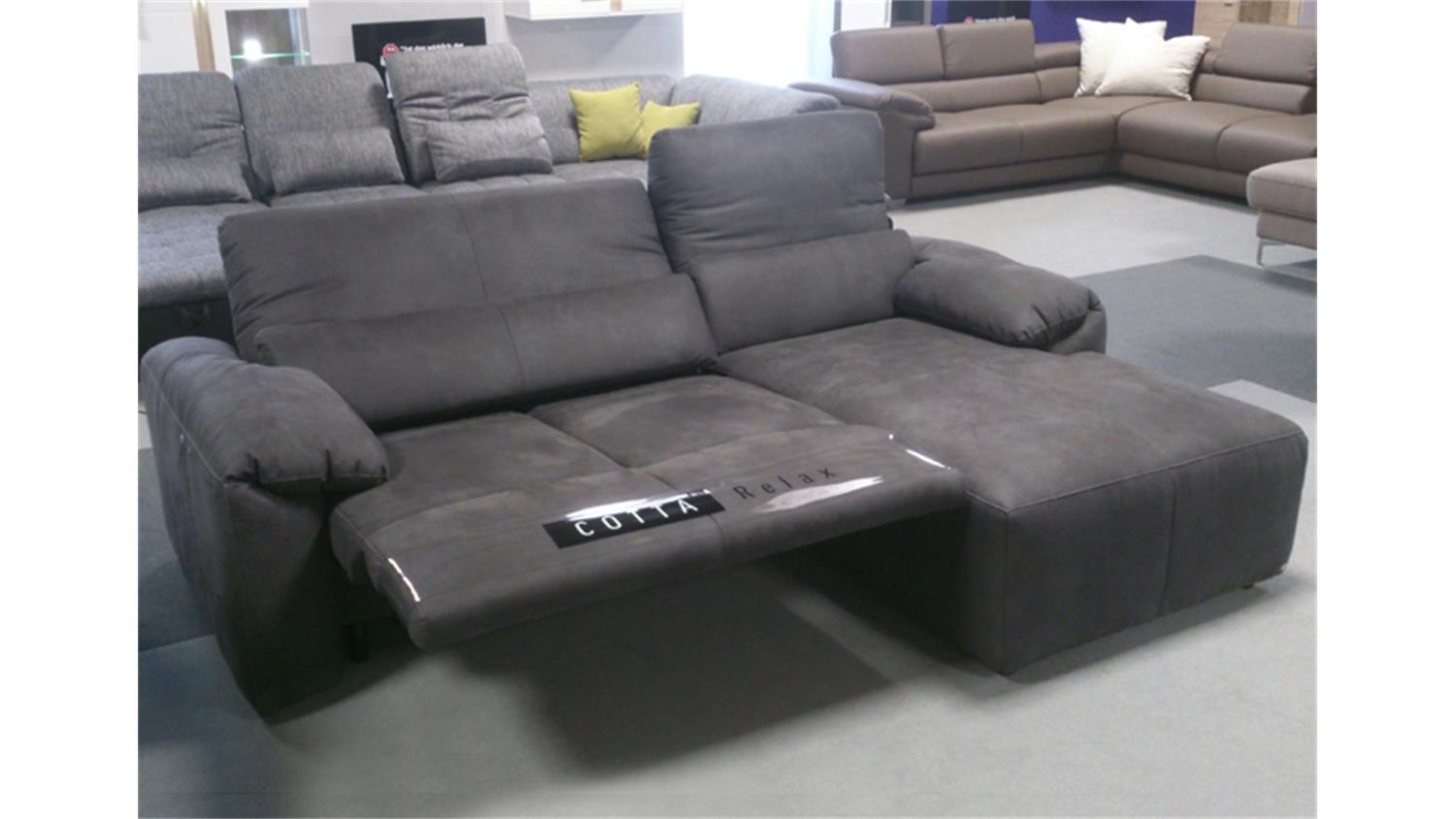 ecksofa silverstone dunkelgrau elektrische loungefunktion. Black Bedroom Furniture Sets. Home Design Ideas