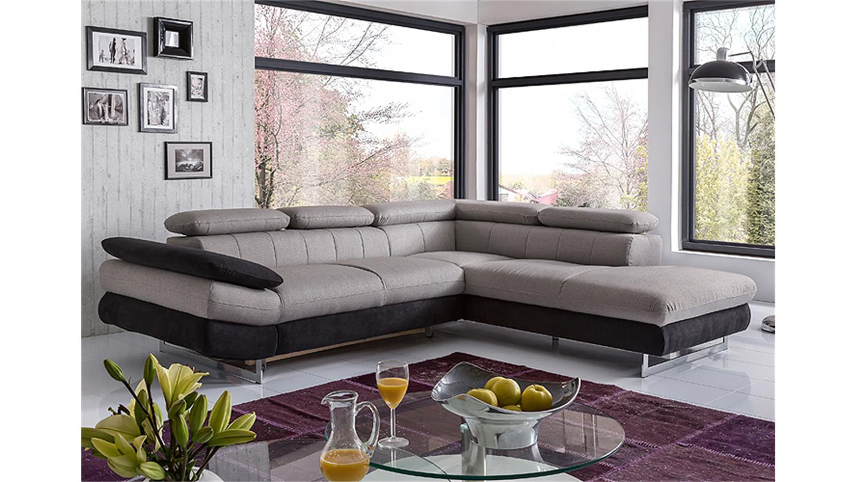 ecksofa solution sofa sand grau schwarz mit funktion. Black Bedroom Furniture Sets. Home Design Ideas