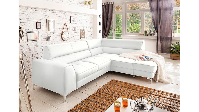 ecksofa spectacle sofa wei mit bettfunktion und bettkasten. Black Bedroom Furniture Sets. Home Design Ideas