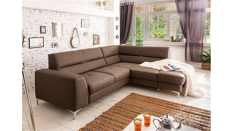 Ecksofa spectacle sofa wohnlandschaft polsterecke mud braun for Ecksofa wohnlandschaft