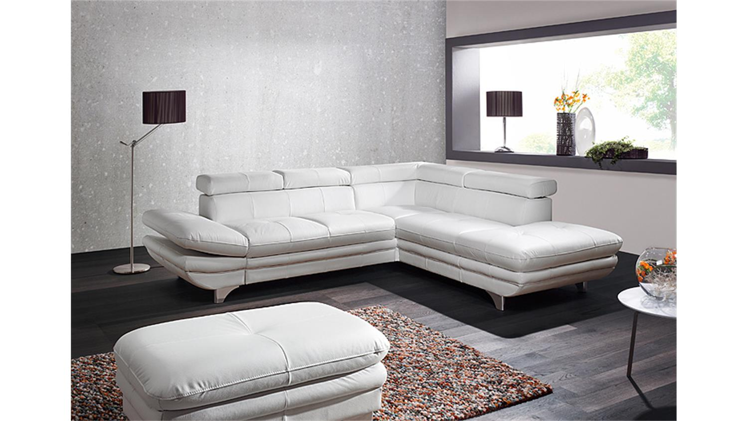 ecksofa enterprise sofa wohnlandschaft wei bettfunktion. Black Bedroom Furniture Sets. Home Design Ideas