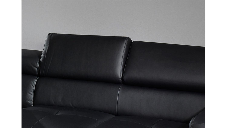 ecksofa sammy sofa polsterecke schwarz mit kopfteilfunktion. Black Bedroom Furniture Sets. Home Design Ideas