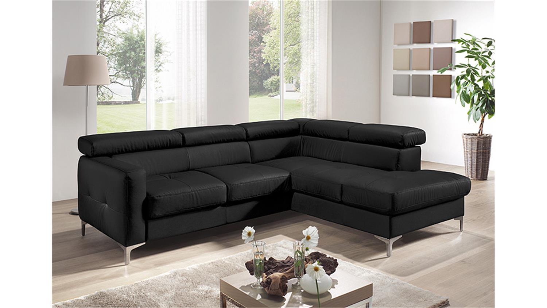 Ecksofa sammy polsterecke sofa schwarz mit bettfunktion for Ecksofa mit bettfunktion