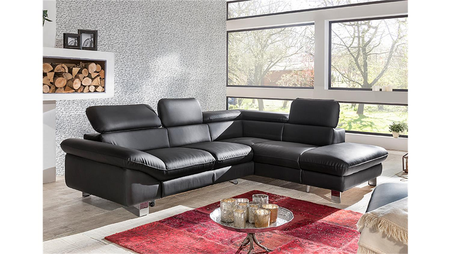 ecksofa driver sofa polsterecke schwarz mit bettfunktion. Black Bedroom Furniture Sets. Home Design Ideas