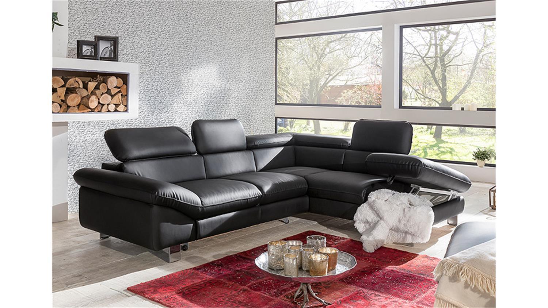 Ecksofa driver sofa polsterecke schwarz mit bettfunktion for Ecksofa mit bettfunktion