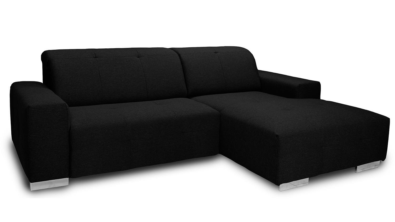 ecksofa francisco sofa polsterecke schwarz kopfteilfunktion. Black Bedroom Furniture Sets. Home Design Ideas