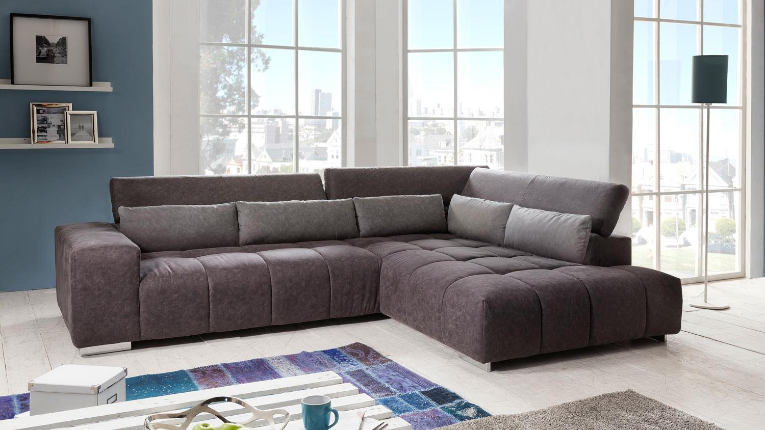ecksofa aksis wohnlandschaft sofa polstersofa in braun 308x225 cm. Black Bedroom Furniture Sets. Home Design Ideas