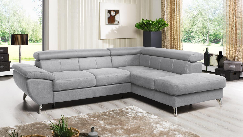 Ecksofa Finca Wohnlandschaft Sofa In Silver Grau Mit Funktion 260x207