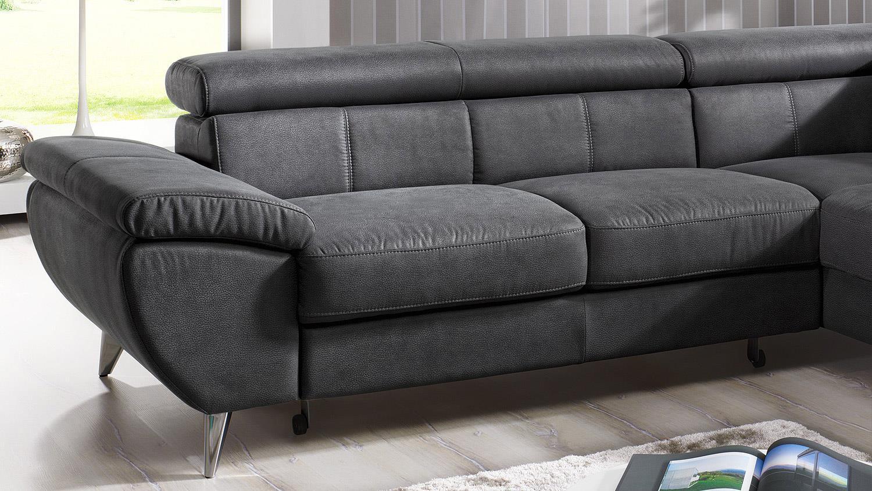 ledersofa anthrazit. Black Bedroom Furniture Sets. Home Design Ideas