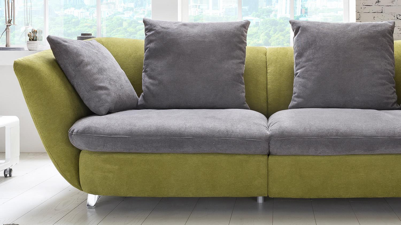 Megasofa grau  MODERN Sofa Bigsofa Polstersofa in grün und grau 244x115