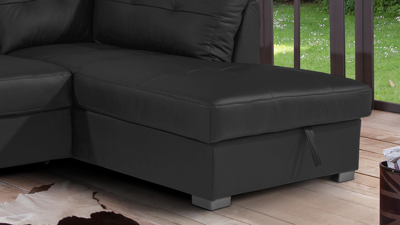 ecksofa burner ii wohnlandschaft sofa leder teilleder schwarz 244x174. Black Bedroom Furniture Sets. Home Design Ideas