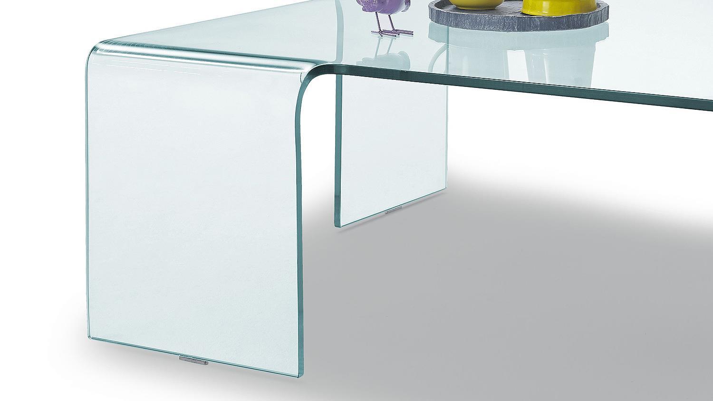 Couchtisch kadro in klarglas formgebogen 90x90 cm for Wohnzimmertisch 90x90