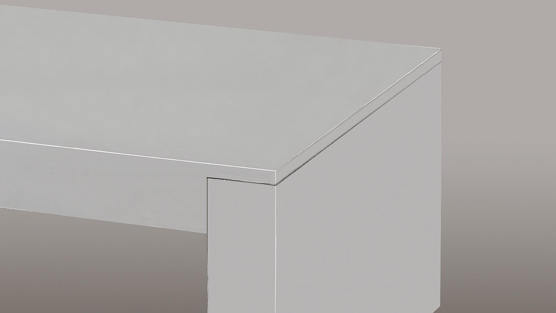 Couchtisch CONCRETE III Beton Oberfläche weiß 110×65 cm
