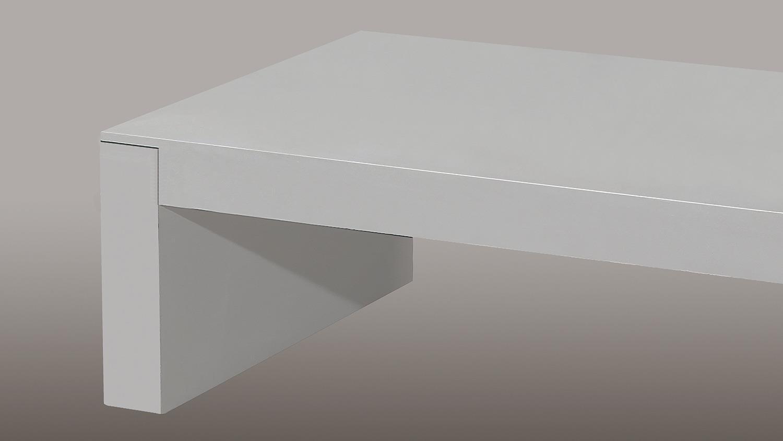 Couchtisch CONCRETE III in Betonfarbe 110×65 cm