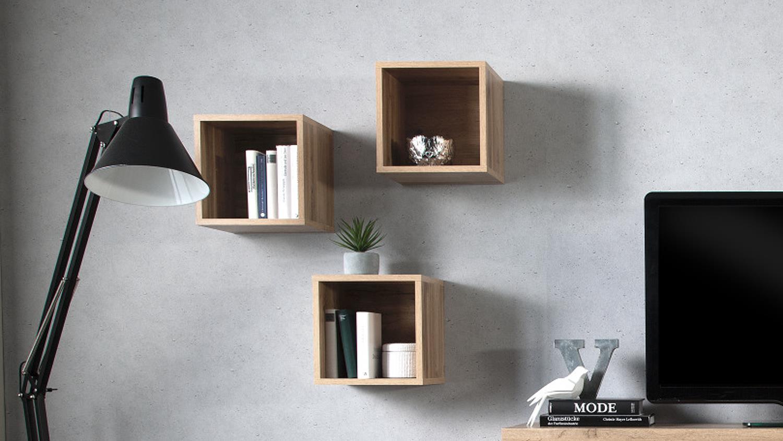 3er set wildeiche w rfel cleo von cs schmal. Black Bedroom Furniture Sets. Home Design Ideas