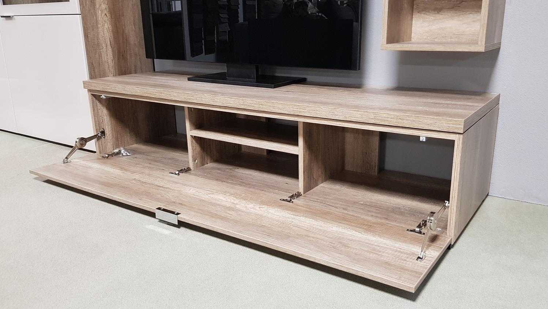 lowboard tv board wildeiche1 klappe cleo 11 von cs schmal 163 cm breit. Black Bedroom Furniture Sets. Home Design Ideas
